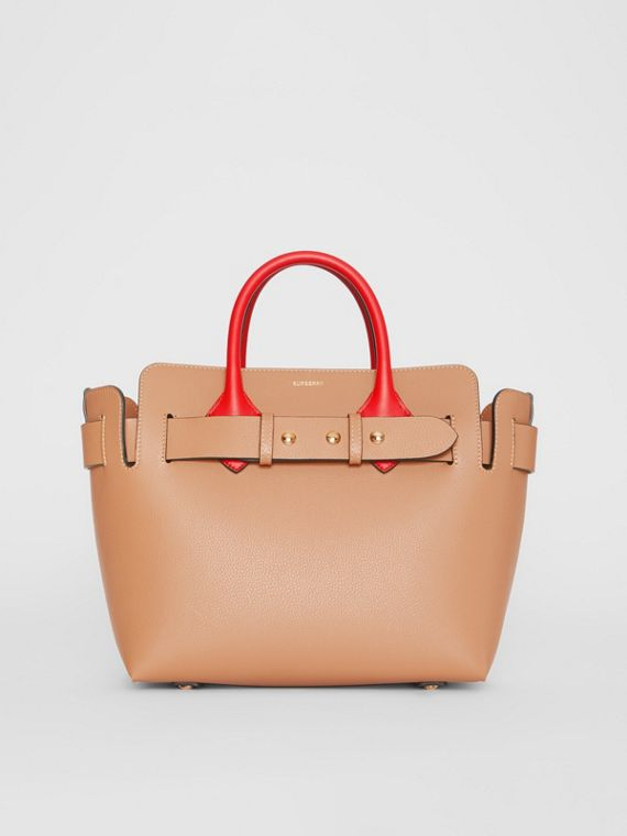 The Small Tri-tone Leather Triple Stud Belt Bag in Light Camel