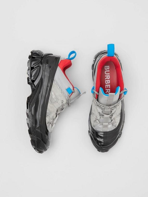 Sneaker Arthur in nylon e pelle scamosciata (Blu Grigio)