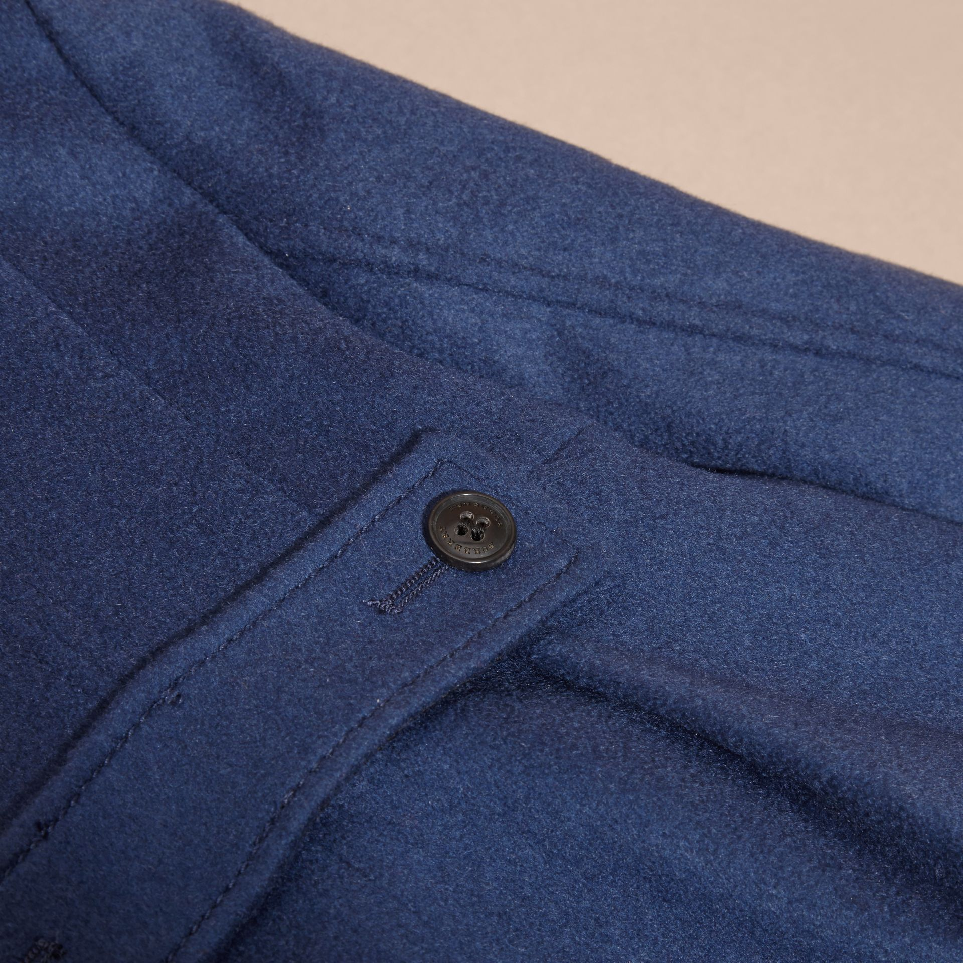 Bright navy Tailored Cashmere Coat Bright Navy - gallery image 2