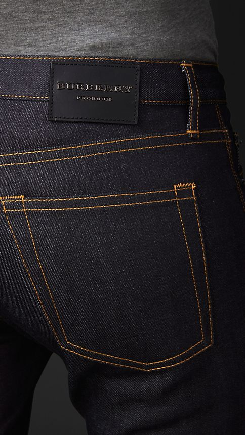 Indigo Skinny Fit Indigo Selvedge Jeans - Image 3