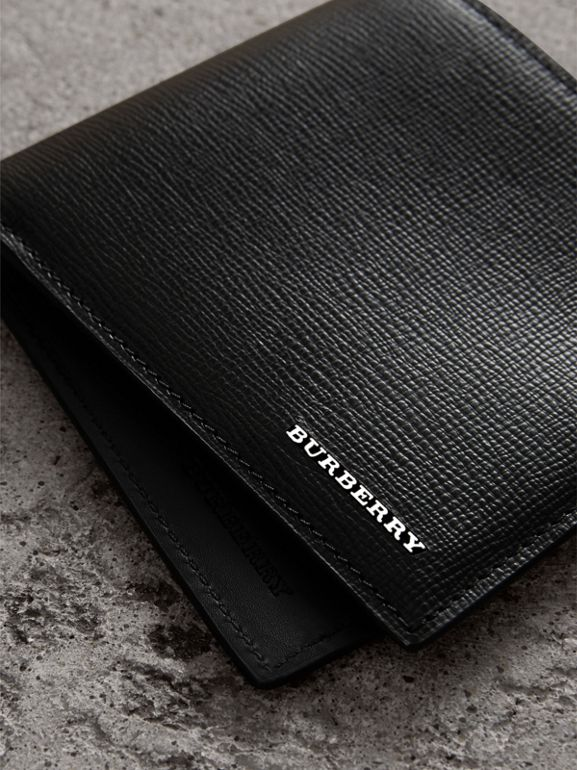 London Leather International Bifold Wallet in Black | Burberry - cell image 1