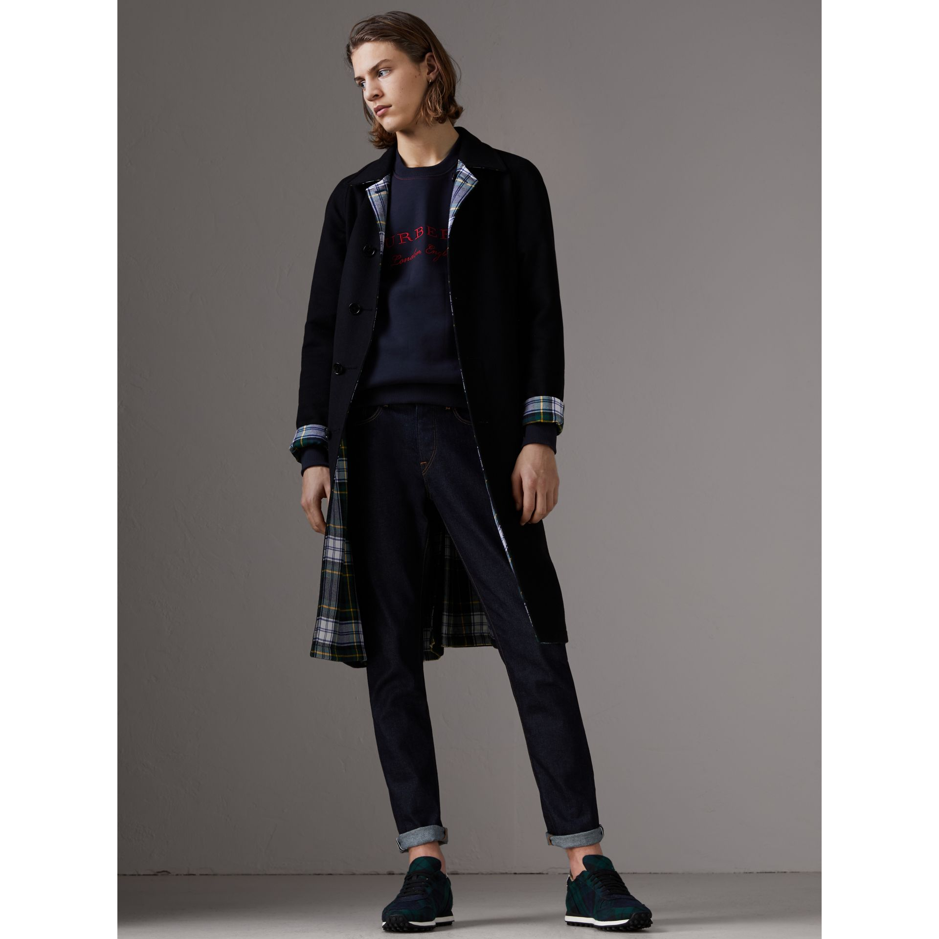 Sweat-shirt en jersey brodé (Marine) - Homme | Burberry - photo de la galerie 5