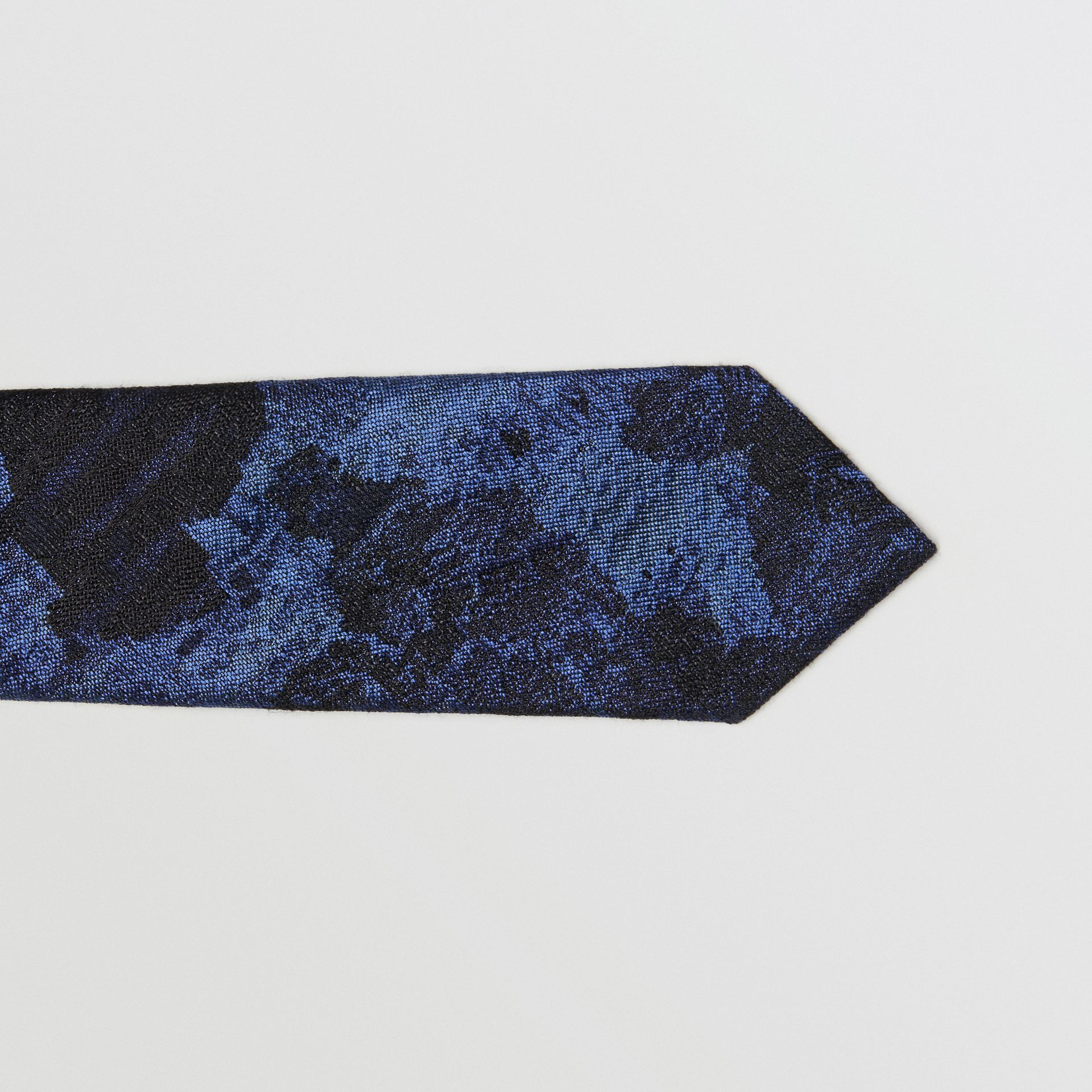 Slim Cut Dreamscape Wool Silk Jacquard Tie in Bright Navy - Men | Burberry - gallery image 1