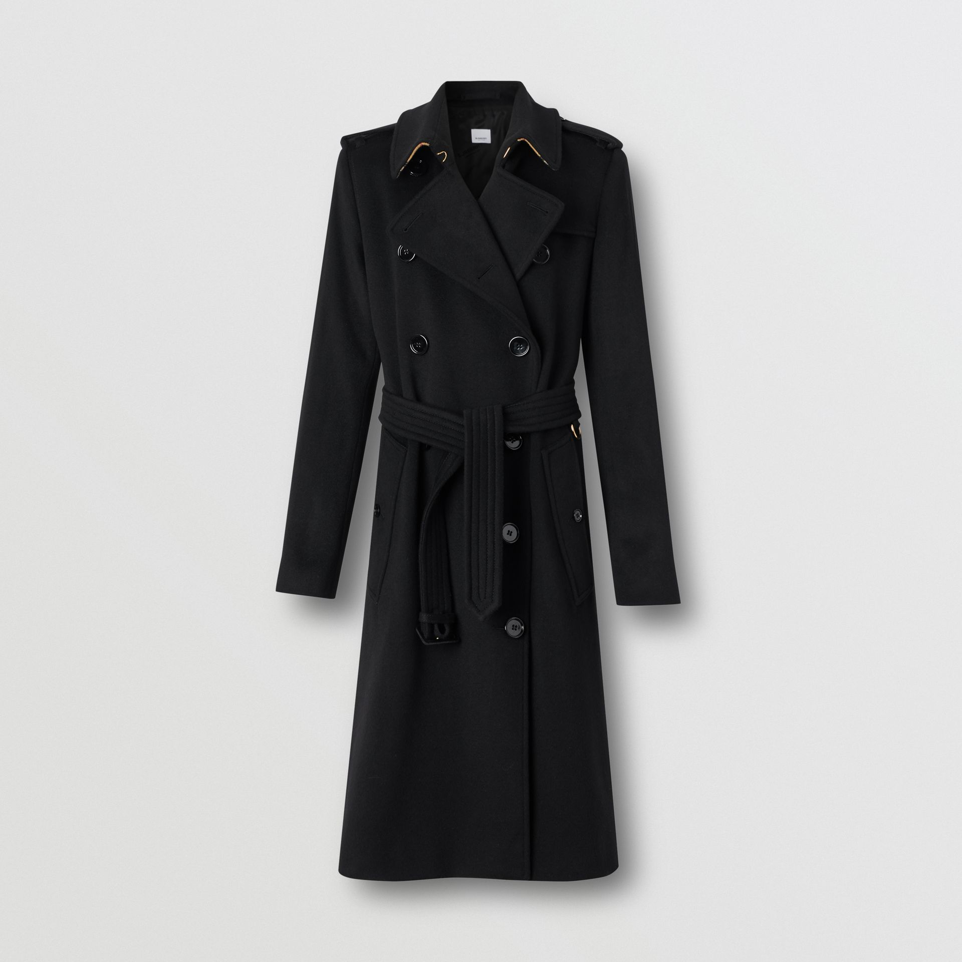 Cashmere Trench Coat in Black - Women | Burberry Singapore - gallery image 3
