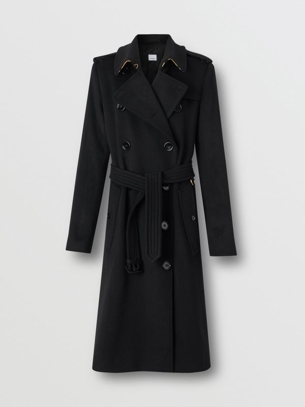 Cashmere Trench Coat in Black - Women | Burberry Singapore - cell image 3