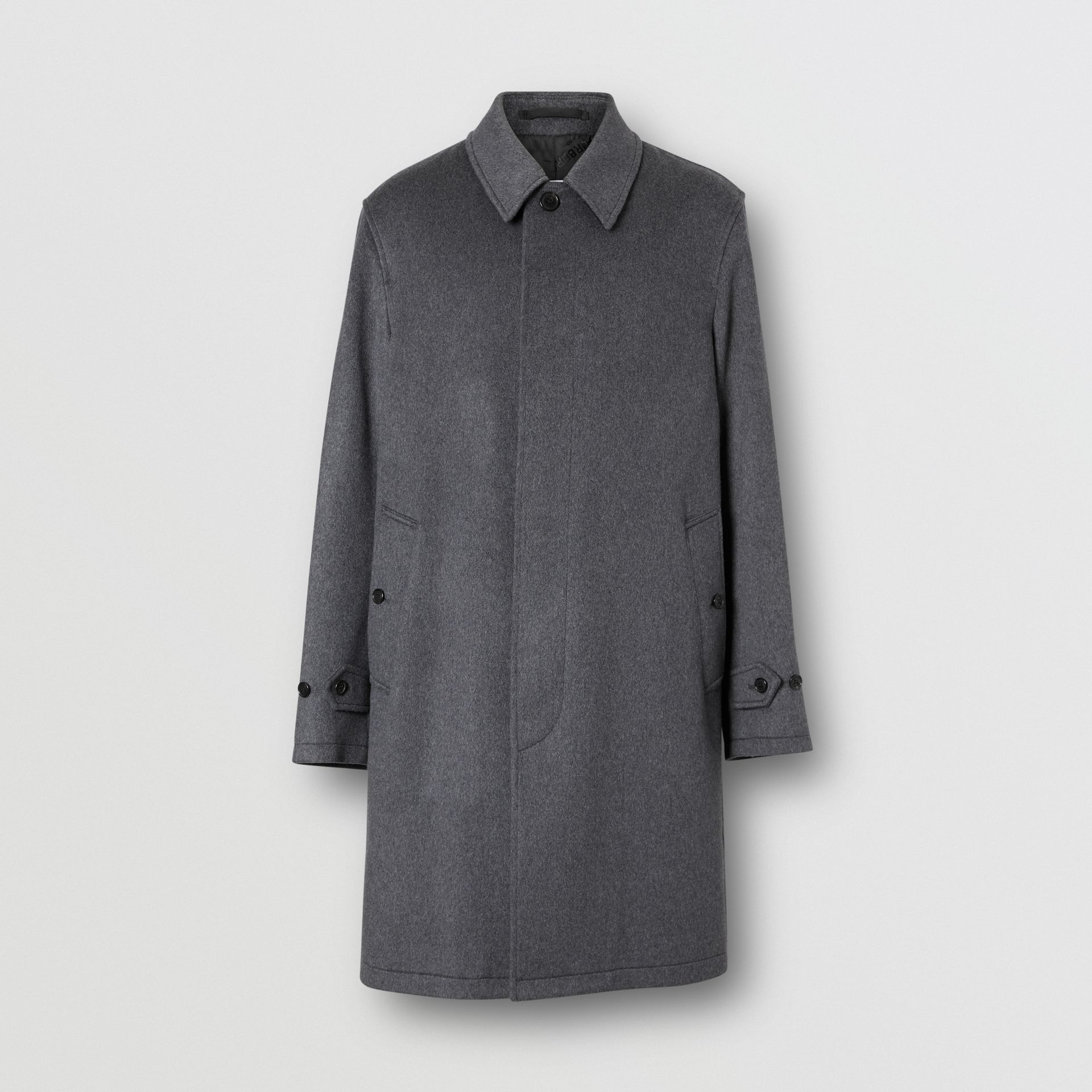 Cashmere Car Coat in Pewter Melange - Men | Burberry - gallery image 3