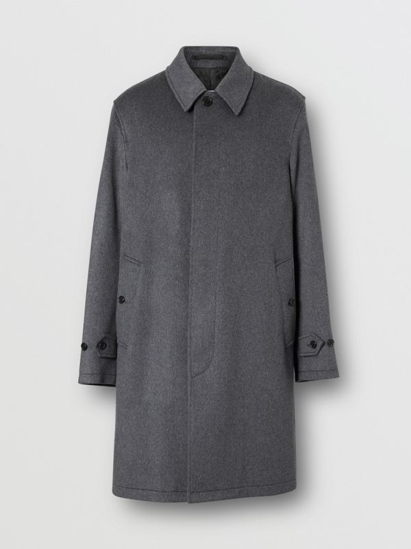 Cashmere Car Coat in Pewter Melange - Men | Burberry Hong Kong S.A.R - cell image 3