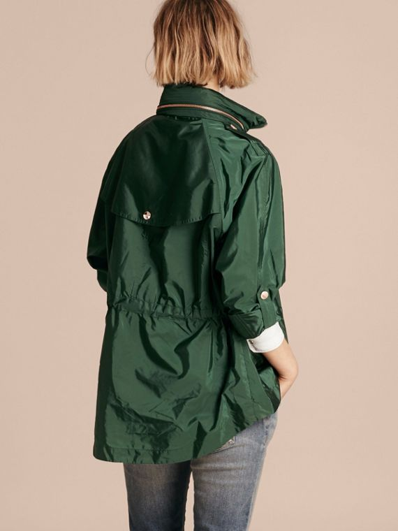 Deep bottle green Showerproof Parka Jacket with Packaway Hood Deep Bottle Green - cell image 2