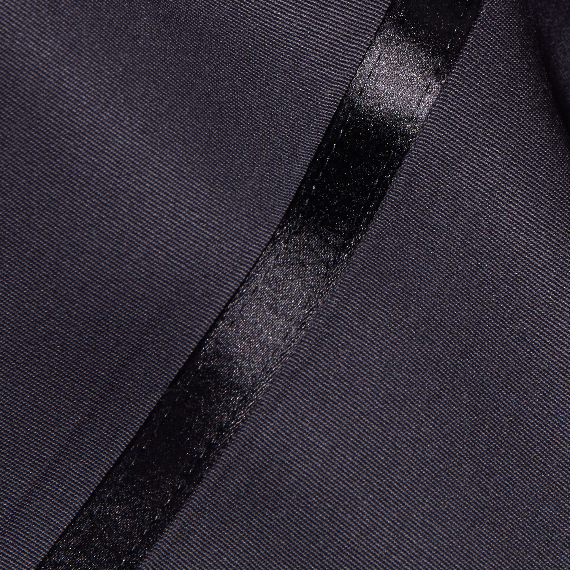 Navy Virgin Wool Tuxedo Trousers Navy - gallery image 2
