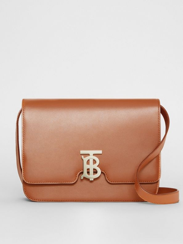 Medium Leather TB Bag in Malt Brown