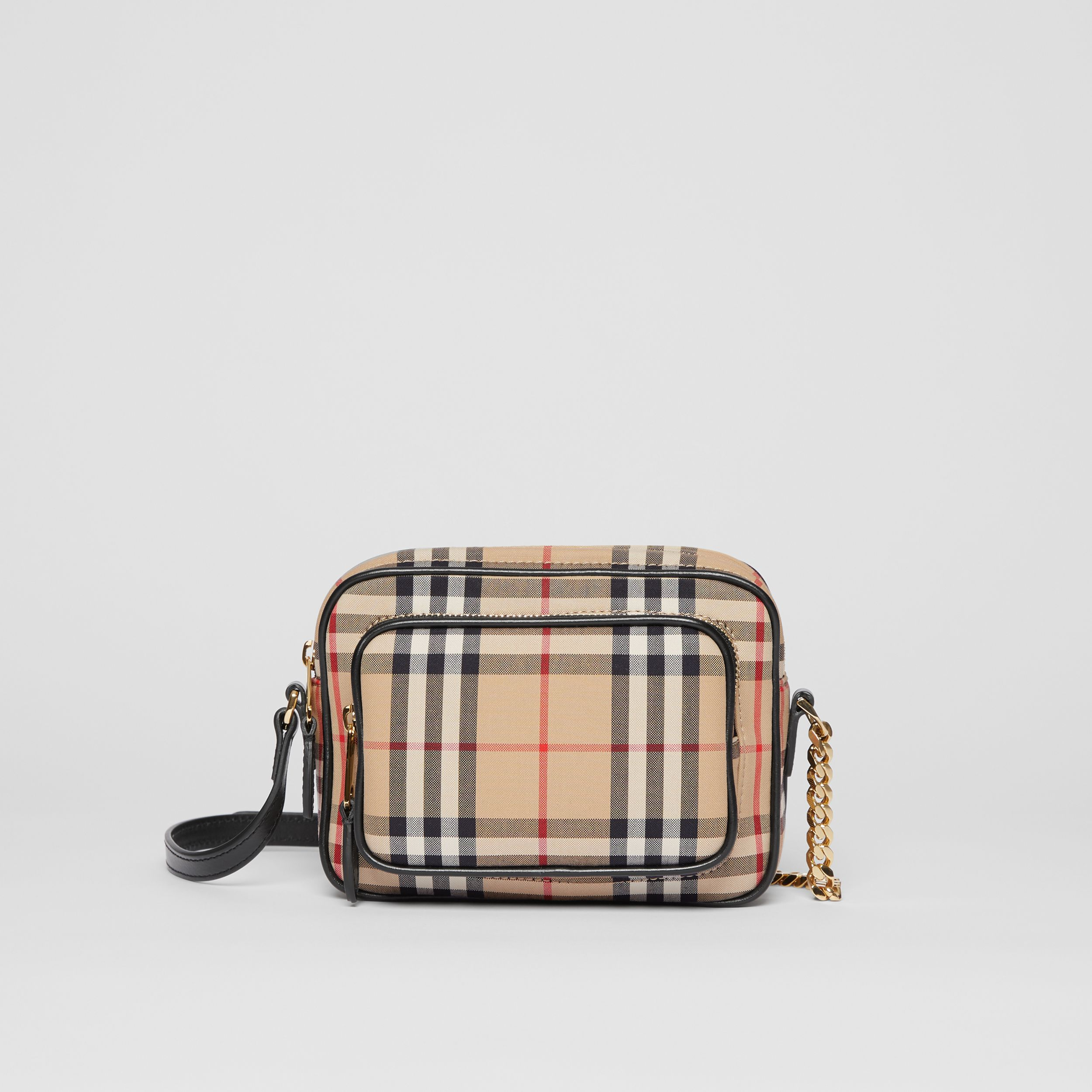 Camera bag in cotone con motivo Vintage check (Beige Archivio) | Burberry - 1