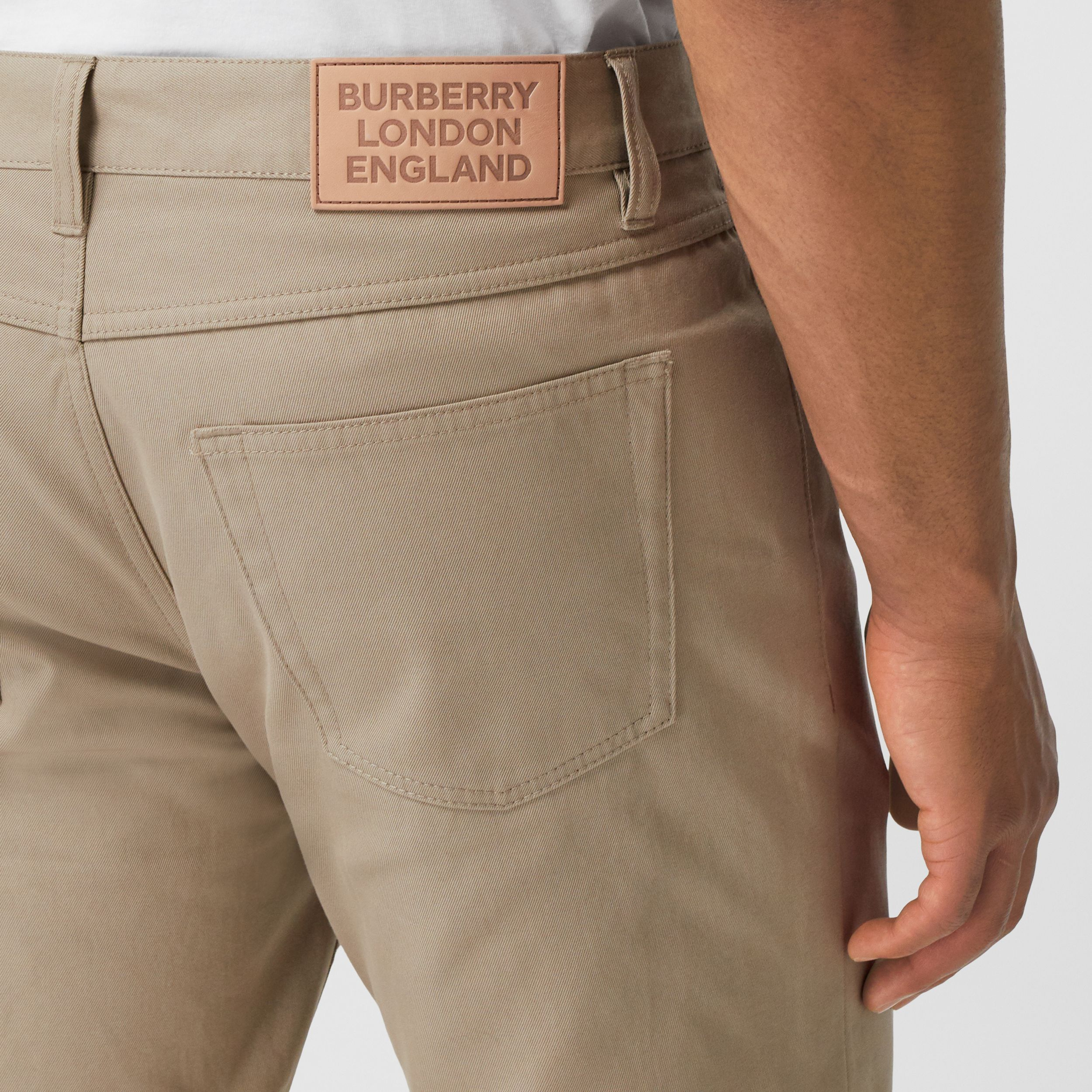 Slim Fit Cotton Chinos in Dark Stone - Men | Burberry Hong Kong S.A.R. - 2