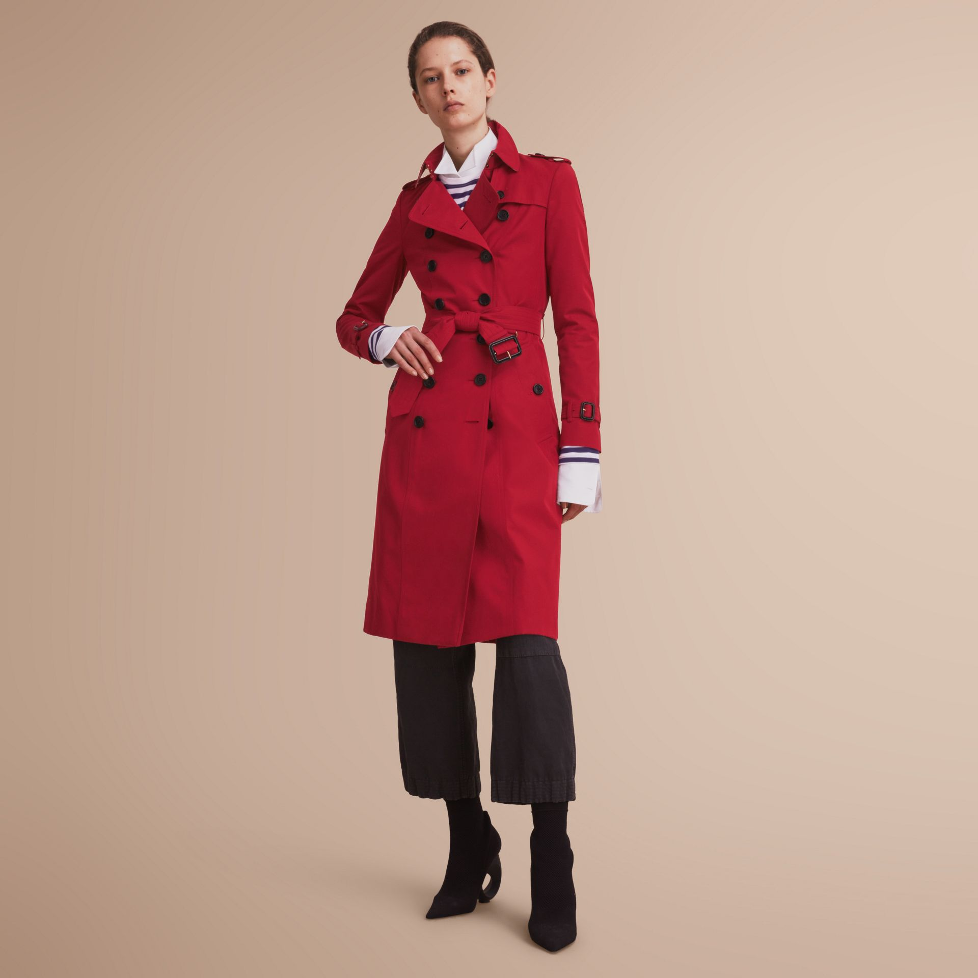 The Chelsea – Extra-long Heritage Trench Coat in Parade Red - gallery image 1