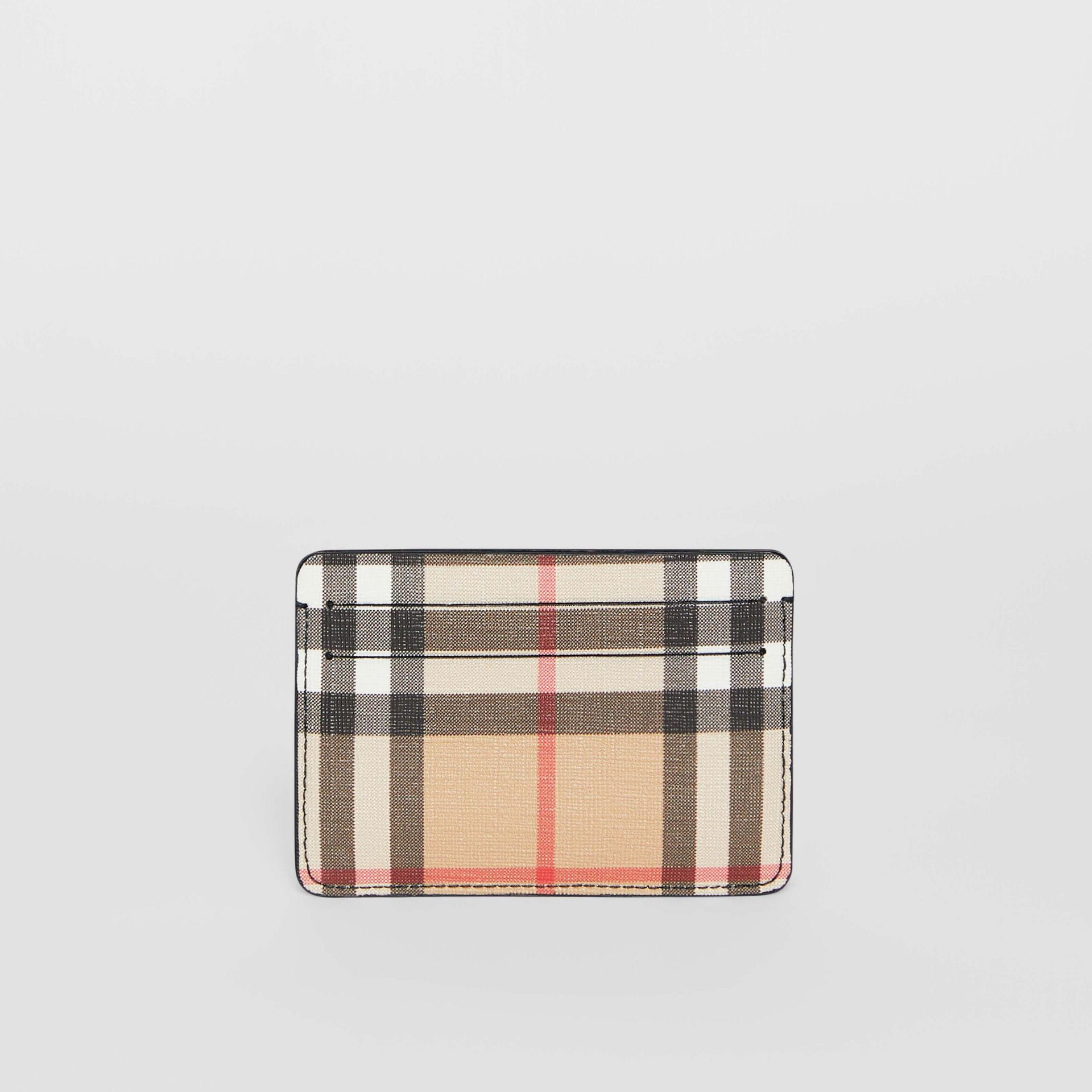 Vintage Check E-canvas Card Case in Black - Women | Burberry Australia - gallery image 4
