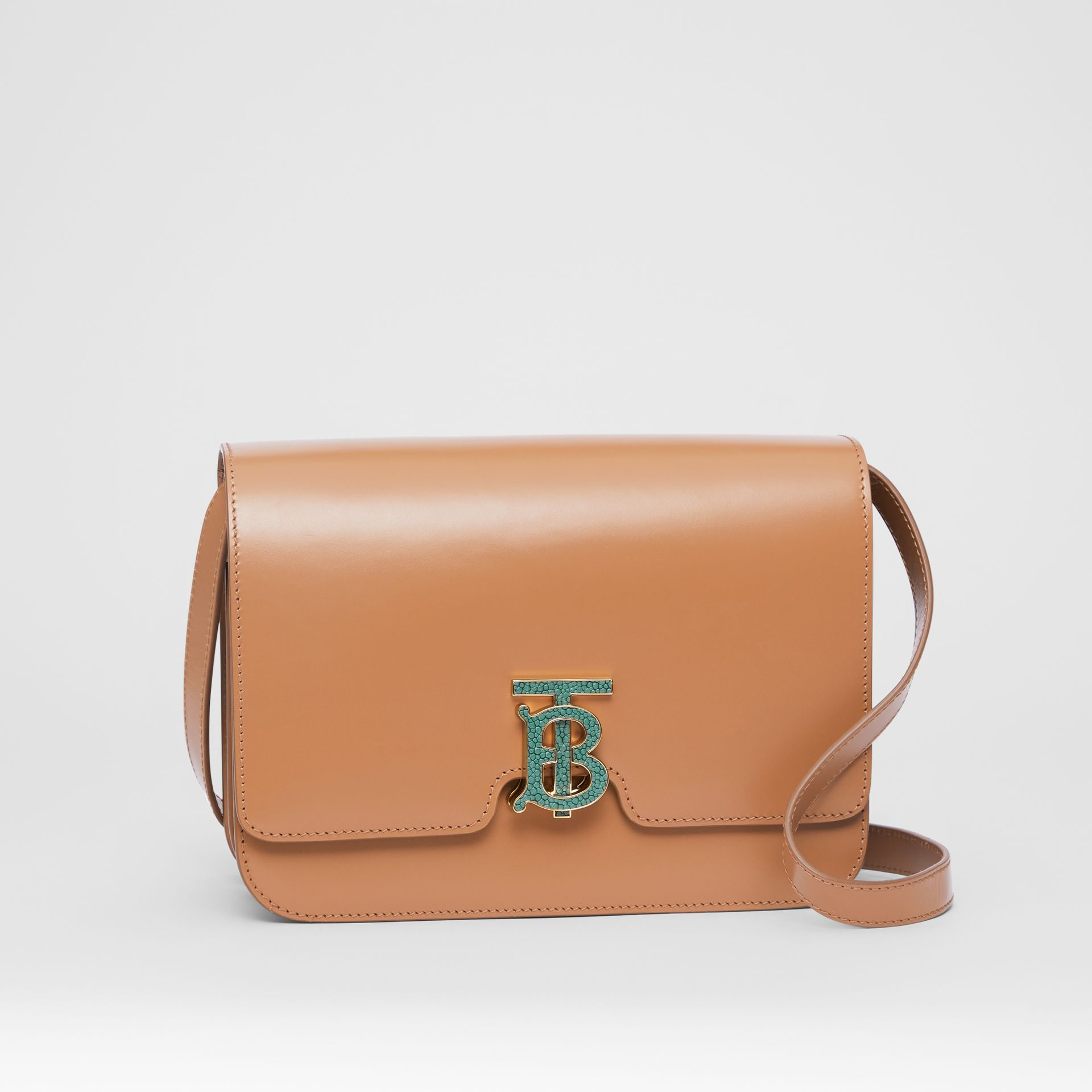 Medium Leather TB Bag in Flaxseed - Women | Burberry - gallery image 6