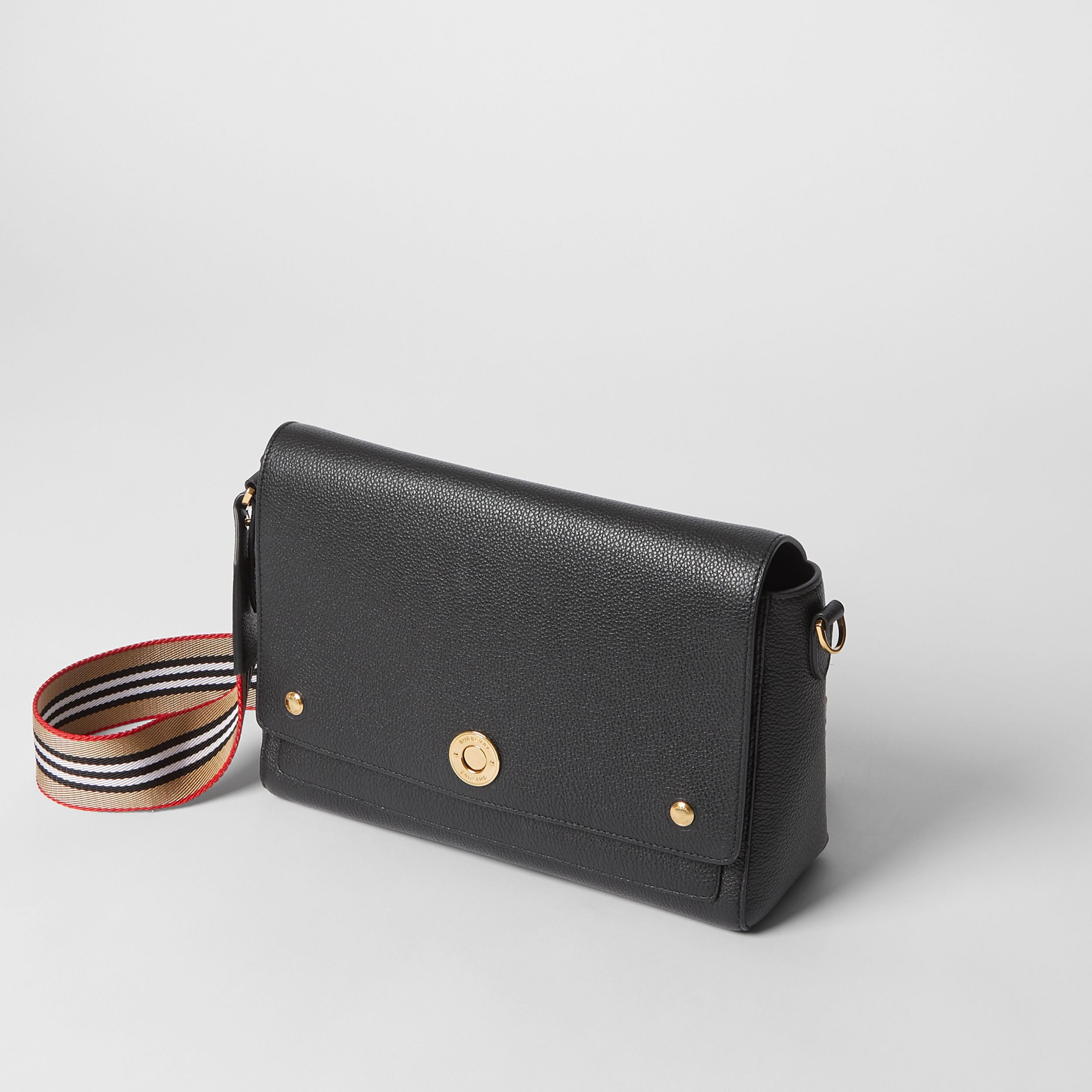 Grainy Leather Note Crossbody Bag in Black - Women | Burberry - 4