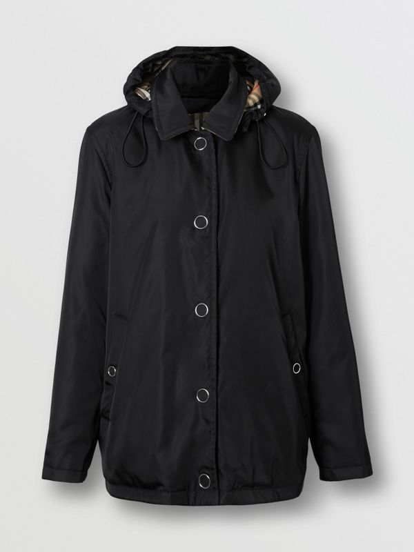 Detachable Hood ECONYL® Jacket in Black - Women | Burberry Singapore - cell image 3