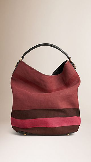Sac The Ashby medium en tissu Canvas check surteint et cuir