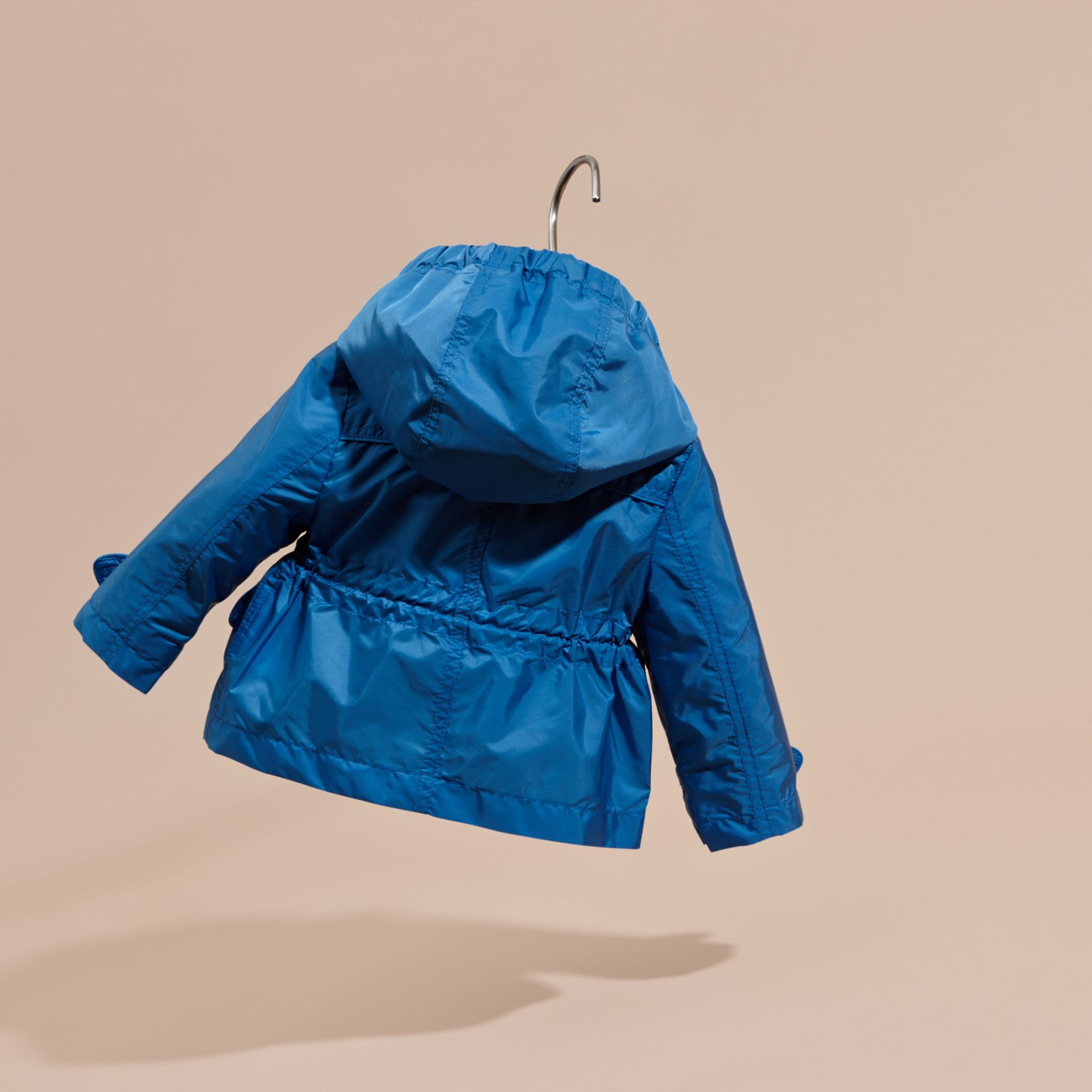Hooded Packaway Technical Jacket in Hydrangea Blue - gallery image 4