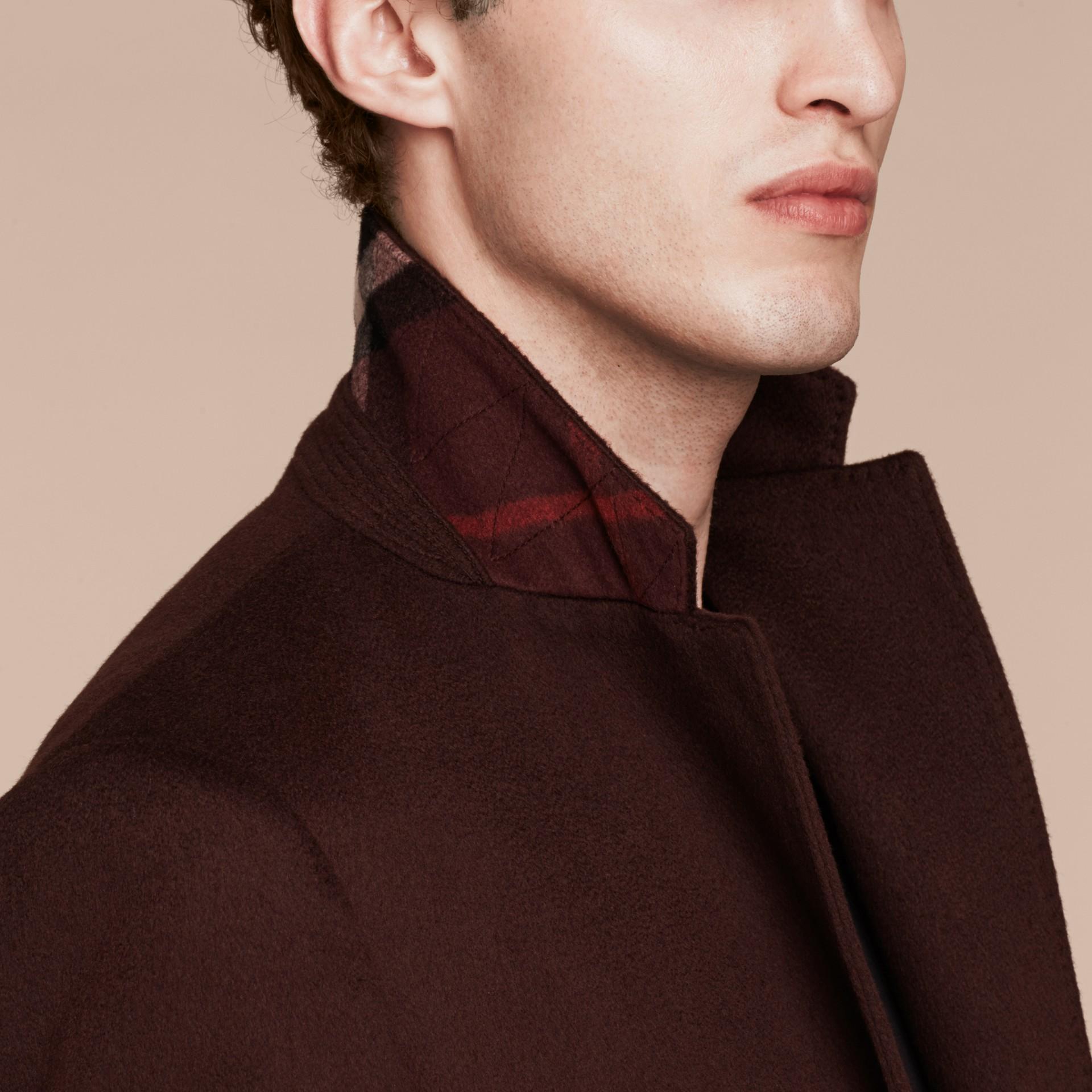 Plum Cashmere Overcoat - gallery image 5