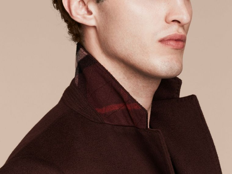 Plum Cashmere Overcoat - cell image 4