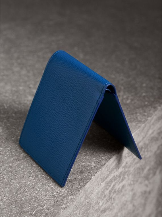 London Leather International Bifold Wallet in Deep Blue | Burberry Australia - cell image 2