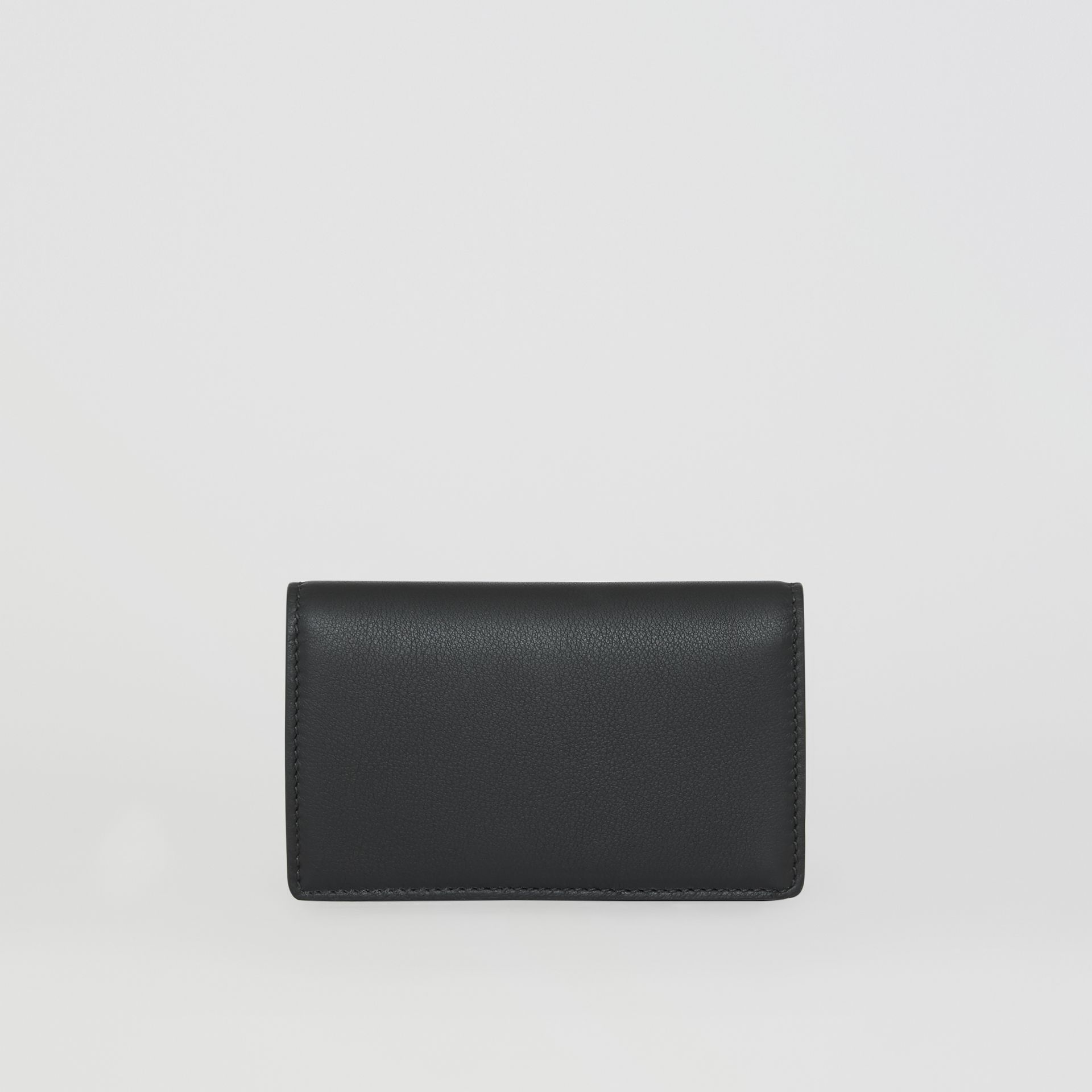 Small Embossed Crest Two-tone Leather Wallet in Black - Women | Burberry - gallery image 2
