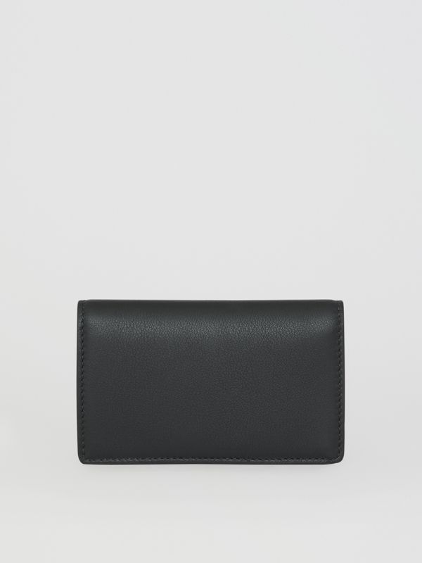 Small Embossed Crest Two-tone Leather Wallet in Black - Women | Burberry - cell image 2