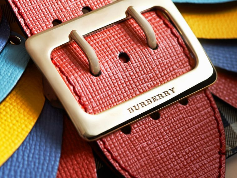 Petit sac The Buckle en coton Haymarket check et cuir - Femme | Burberry - cell image 1