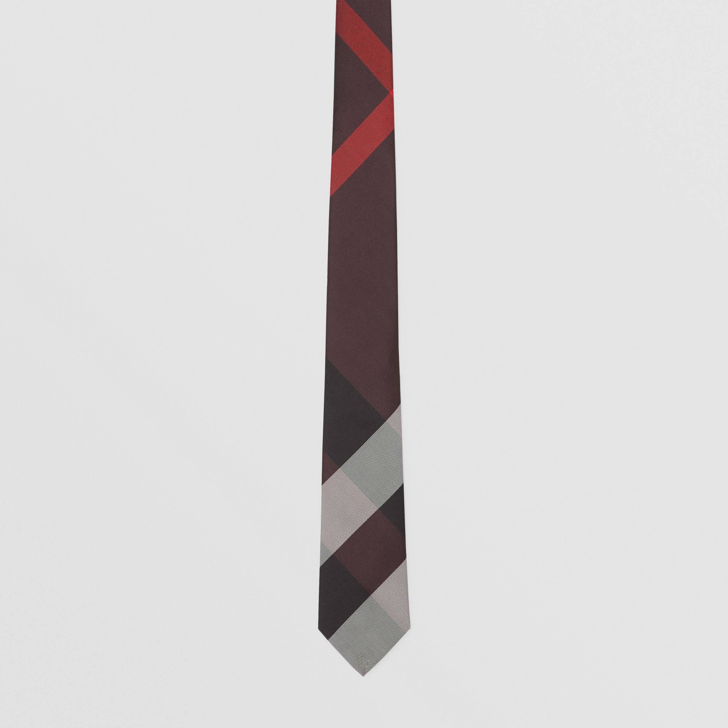 Classic Cut Check Silk Jacquard Tie in Deep Merlot - Men | Burberry - 4