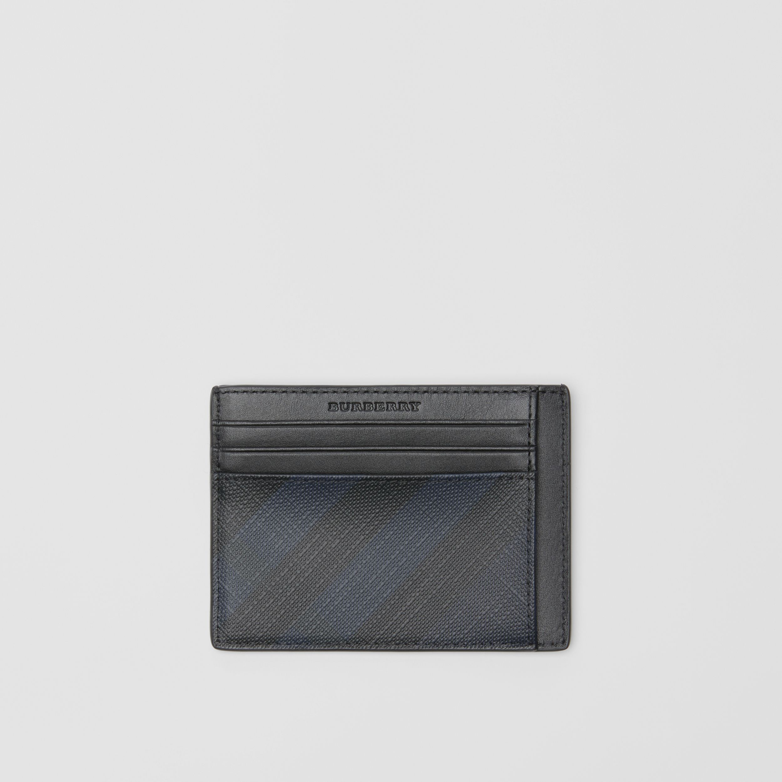 London Check Card Case in Navy/black - Men | Burberry - 1