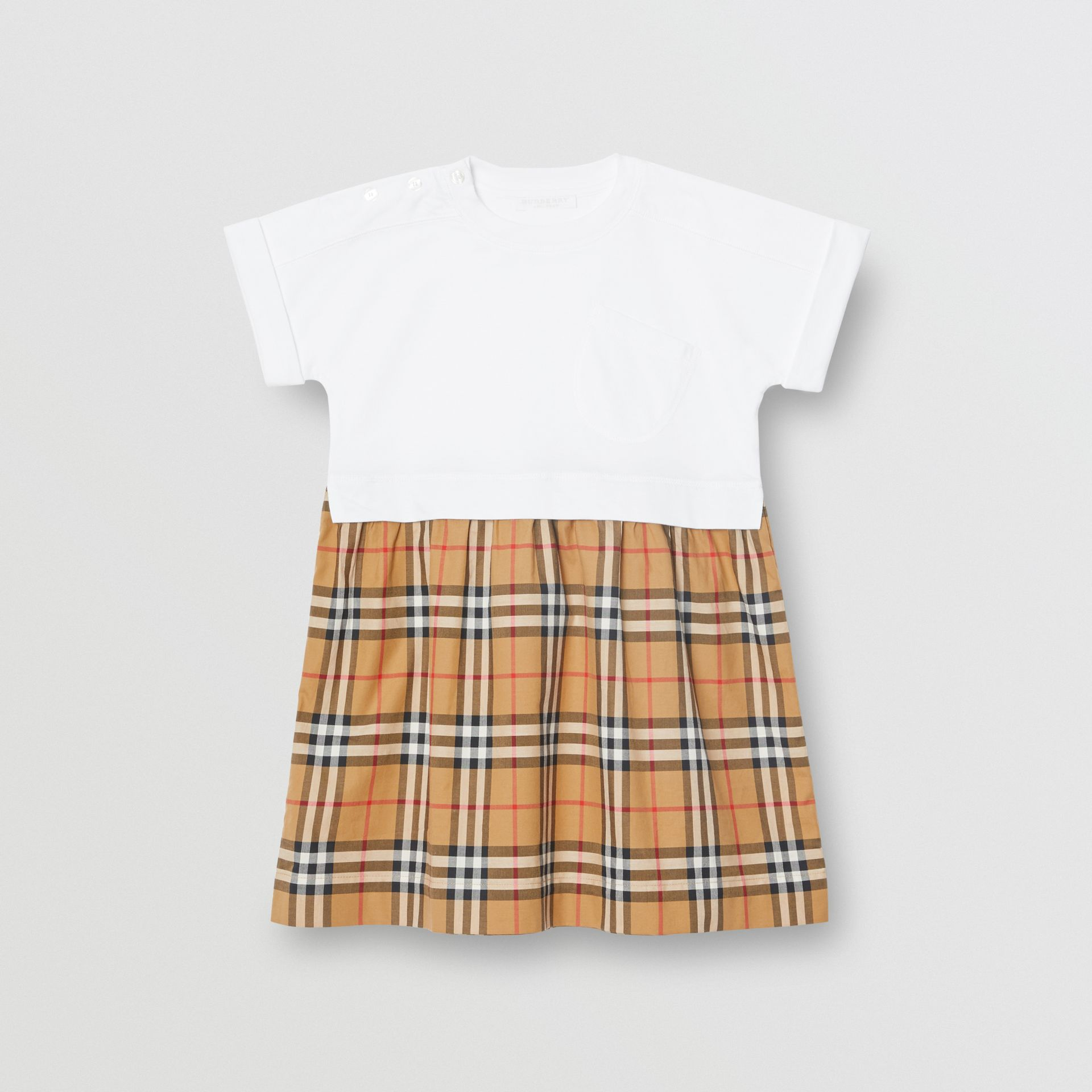 Vintage Check Cotton Dress in White | Burberry United Kingdom - gallery image 0