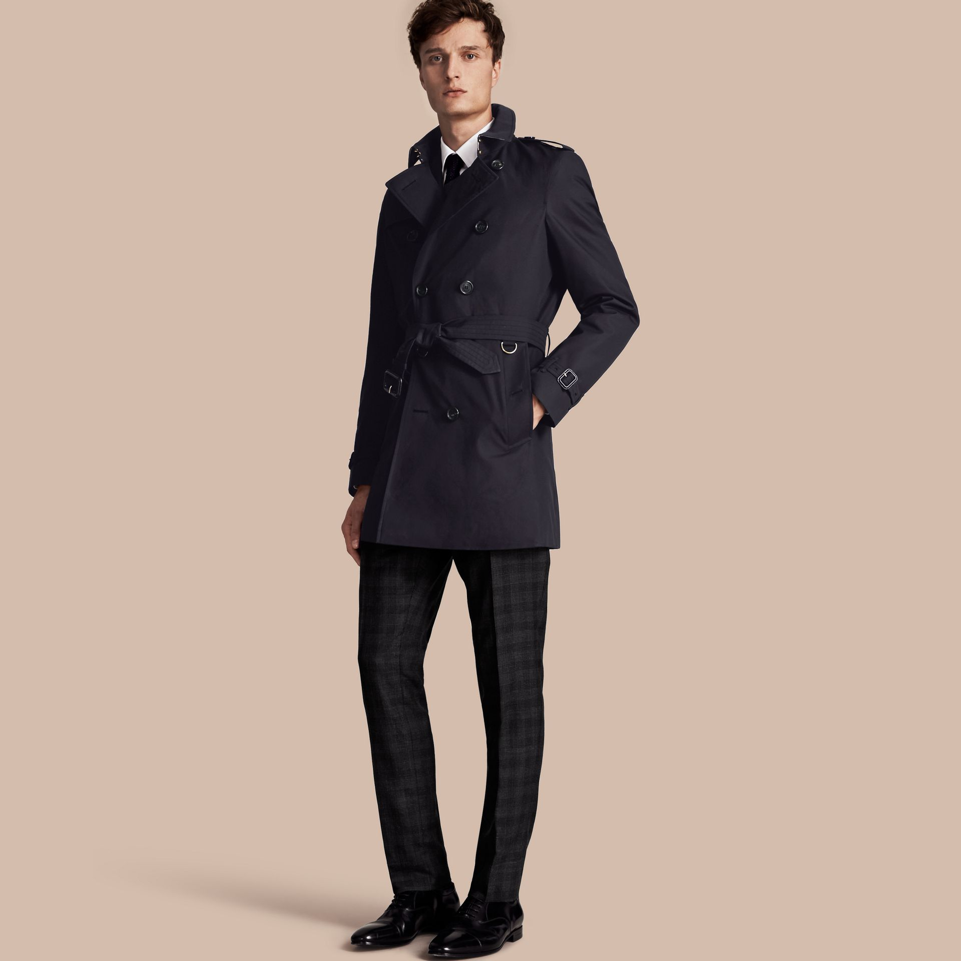 Navy The Chelsea - Trench coat Heritage medio Navy - immagine della galleria 1