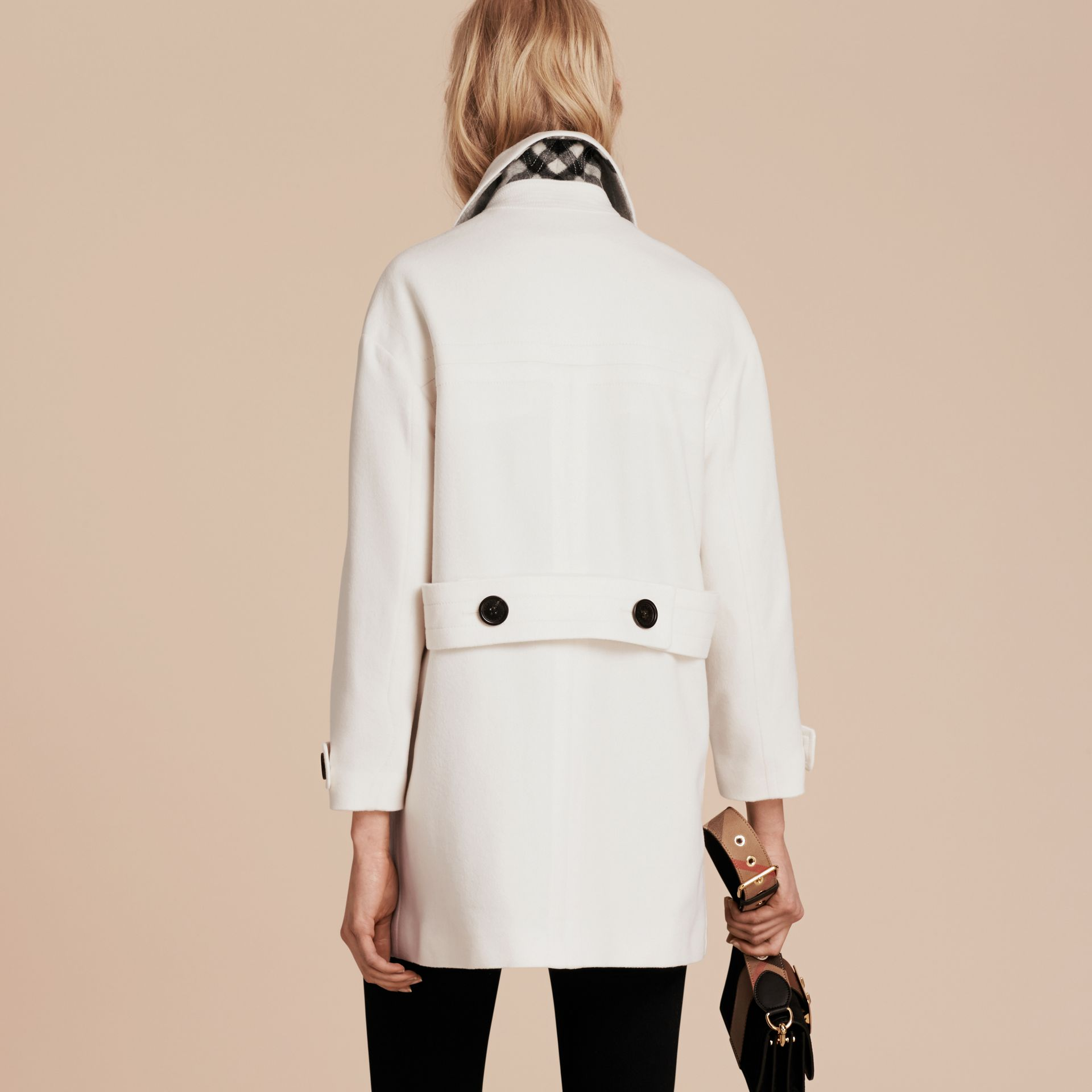 White Cashmere Duffle Coat White - gallery image 3