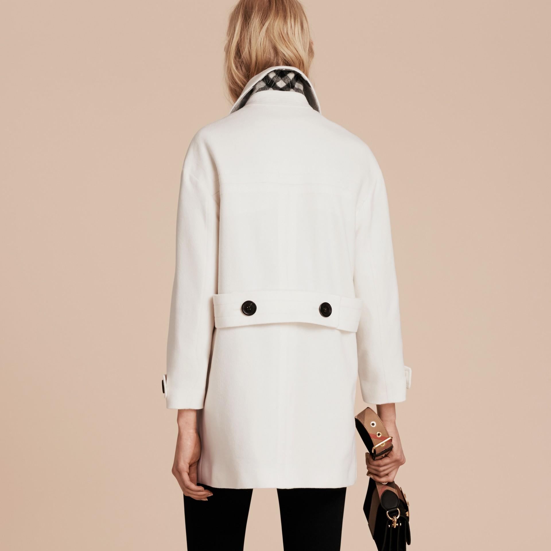 Bianco Montgomery in cashmere Bianco - immagine della galleria 3