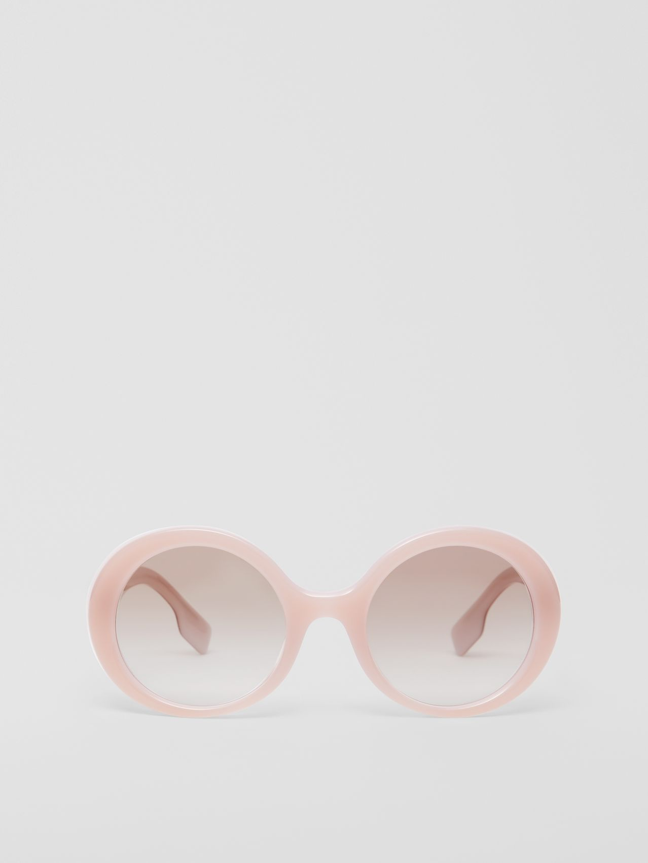 Oversized Round Frame Sunglasses in Opal Pink