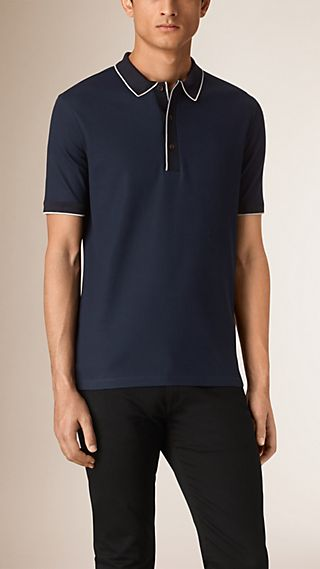 Contrast Tipping Cotton Piqué Polo Shirt