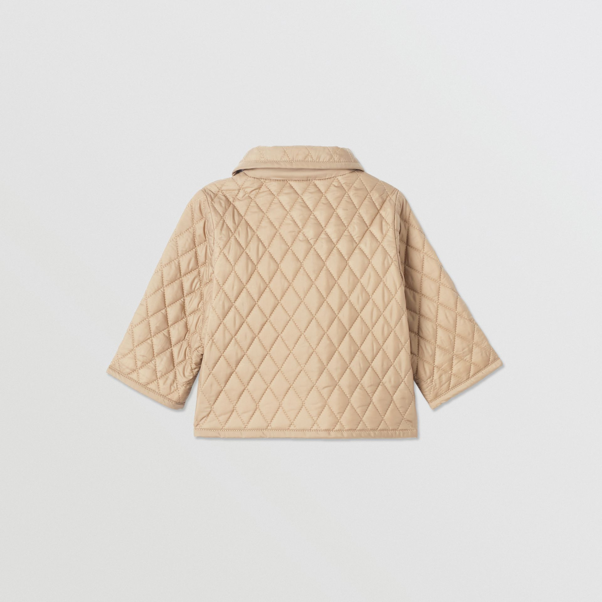 Showerproof Diamond Quilted Jacket in Walnut - Children | Burberry Hong Kong S.A.R - gallery image 4