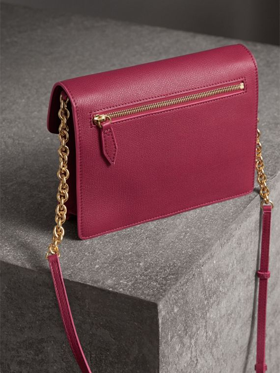 Small Grainy Leather Crossbody Bag in Berry Pink - Women | Burberry - cell image 2