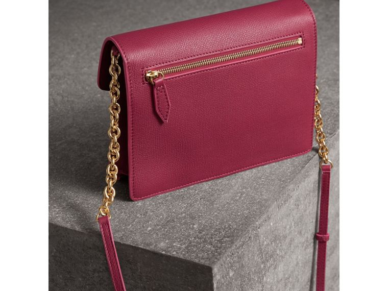 Small Grainy Leather Crossbody Bag in Berry Pink - Women | Burberry Singapore - cell image 4