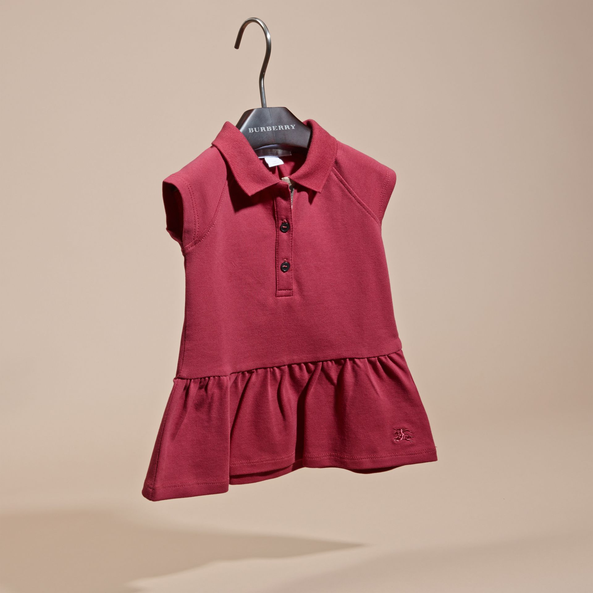 Peony rose Stretch Cotton Piqué Dress - gallery image 3