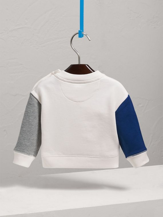 Weather Motif Cotton Sweatshirt in Bright Cornflower Bl | Burberry - cell image 3