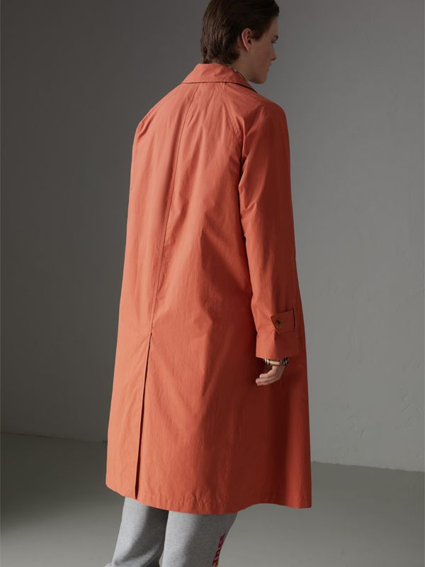 Reissued Cotton Car Coat with Detachable Warmer in Coral - Men | Burberry - cell image 2