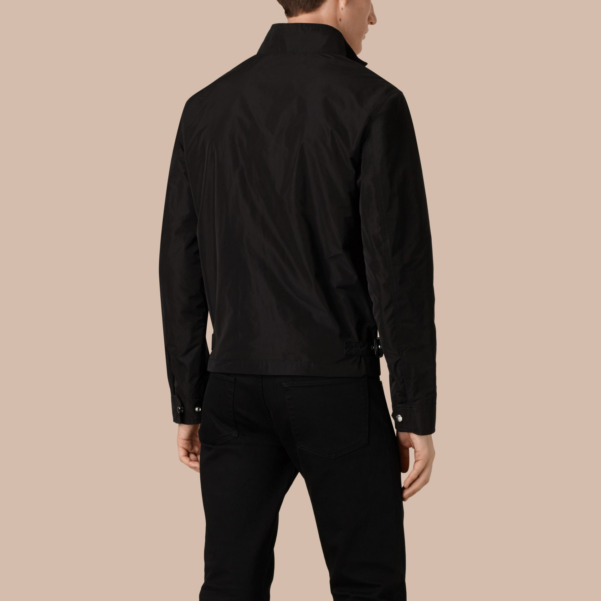 Lightweight Technical Jacket in Black - gallery image 2
