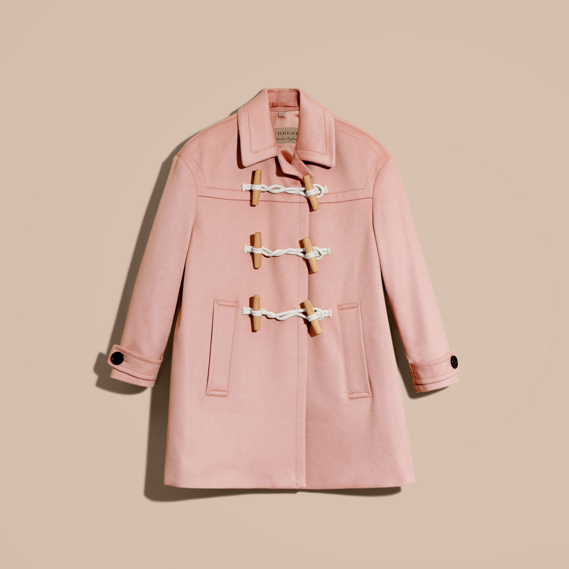 Chalk pink Cashmere Duffle Coat Chalk Pink - gallery image 4