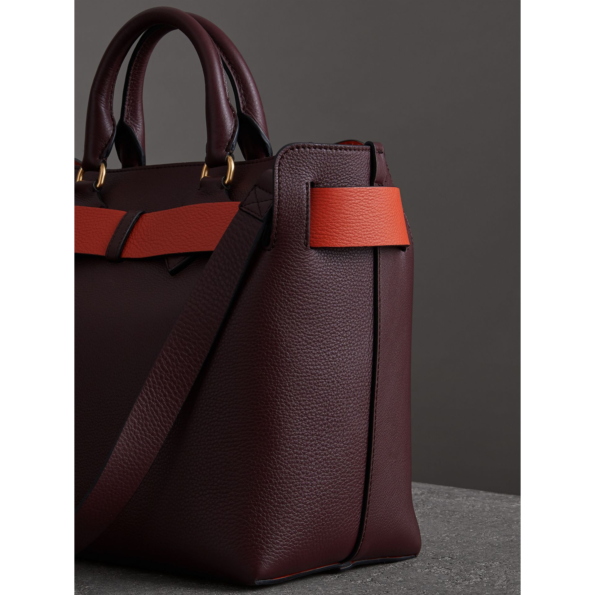 The Medium Leather Belt Bag in Deep Claret - Women | Burberry - gallery image 4