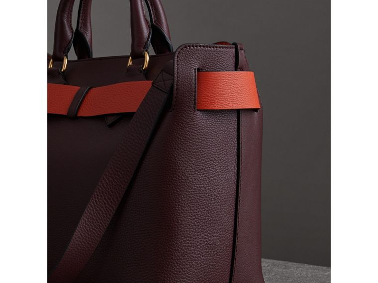 The Medium Leather Belt Bag in Deep Claret - Women | Burberry - cell image 4