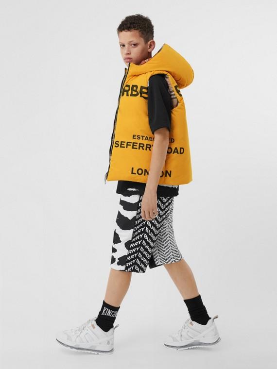 Veste sans manches en taffetas à mémoire de forme Horseferry réversible (Jaune)