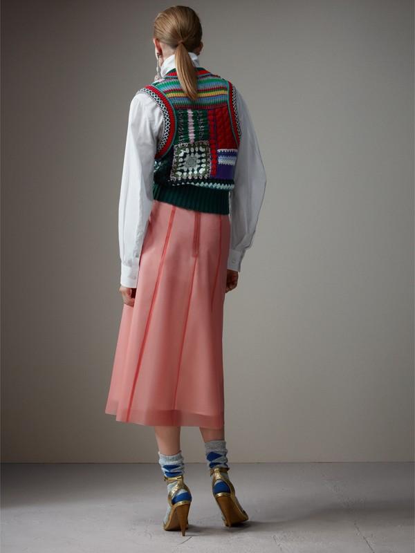 Colete de lã e cashmere com detalhes bordados à mão (Multicolorido) - Mulheres | Burberry - cell image 2