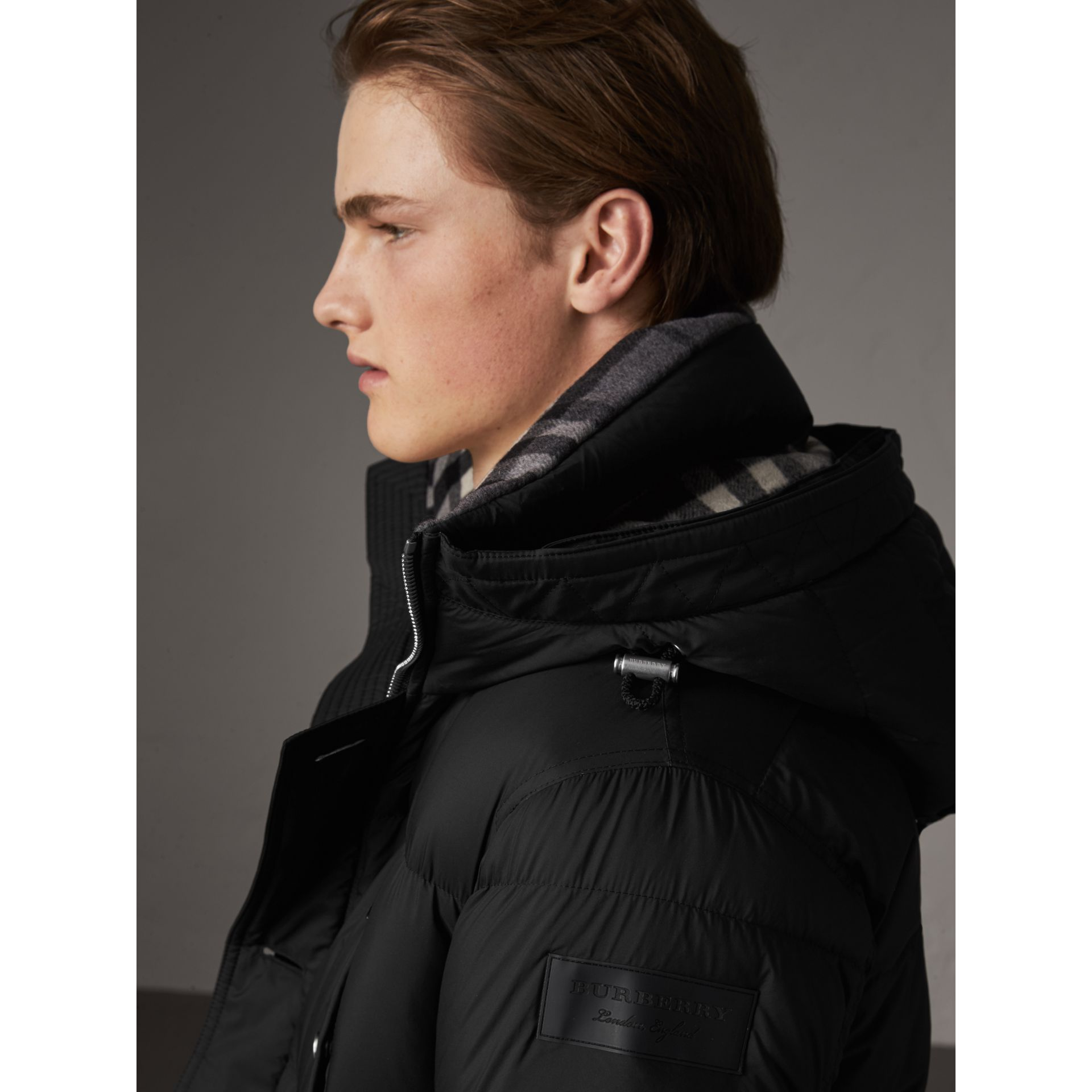 Detachable Raccoon Fur Trim Hood Down-filled Parka in Black - Men | Burberry - gallery image 5
